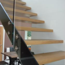 Glass and Wood Architectural Staircase