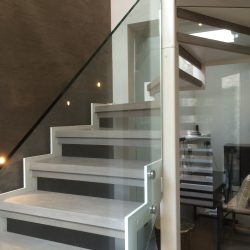 Metal and Glass Architectural Staircase