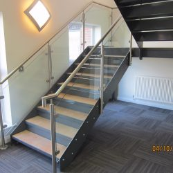 Metal Glass Architectural Staircase