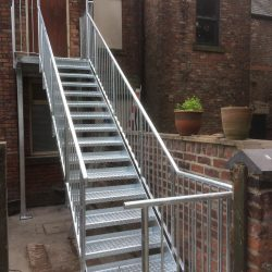 Fire Escape Stairs Galvanised Steel