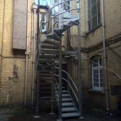 Fire Escape Spiral Stairs Galvanised Steel