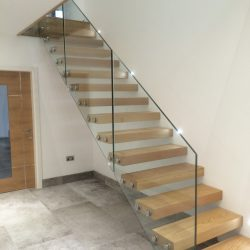 Glass and Wood Minimal Staircase