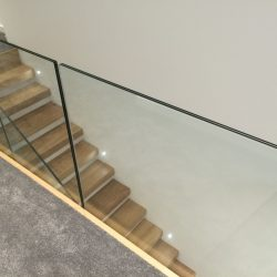 Glass Wooden Staircase