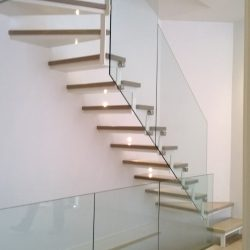 Metal and Glass Simple Staircase